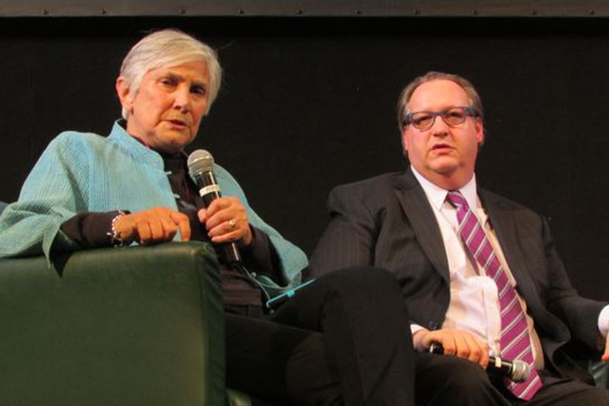 Education historian Diane Ravitch and Friedman Foundation CEO Robert Enlow debated at Butler University last March.