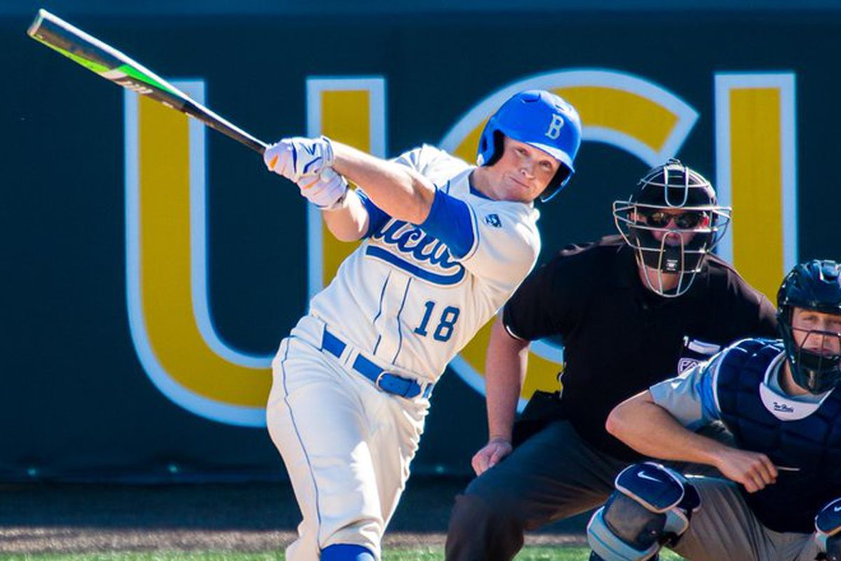 UCLA's Kort Peterson will look to continue his hot hitting this weekend against Wazzou