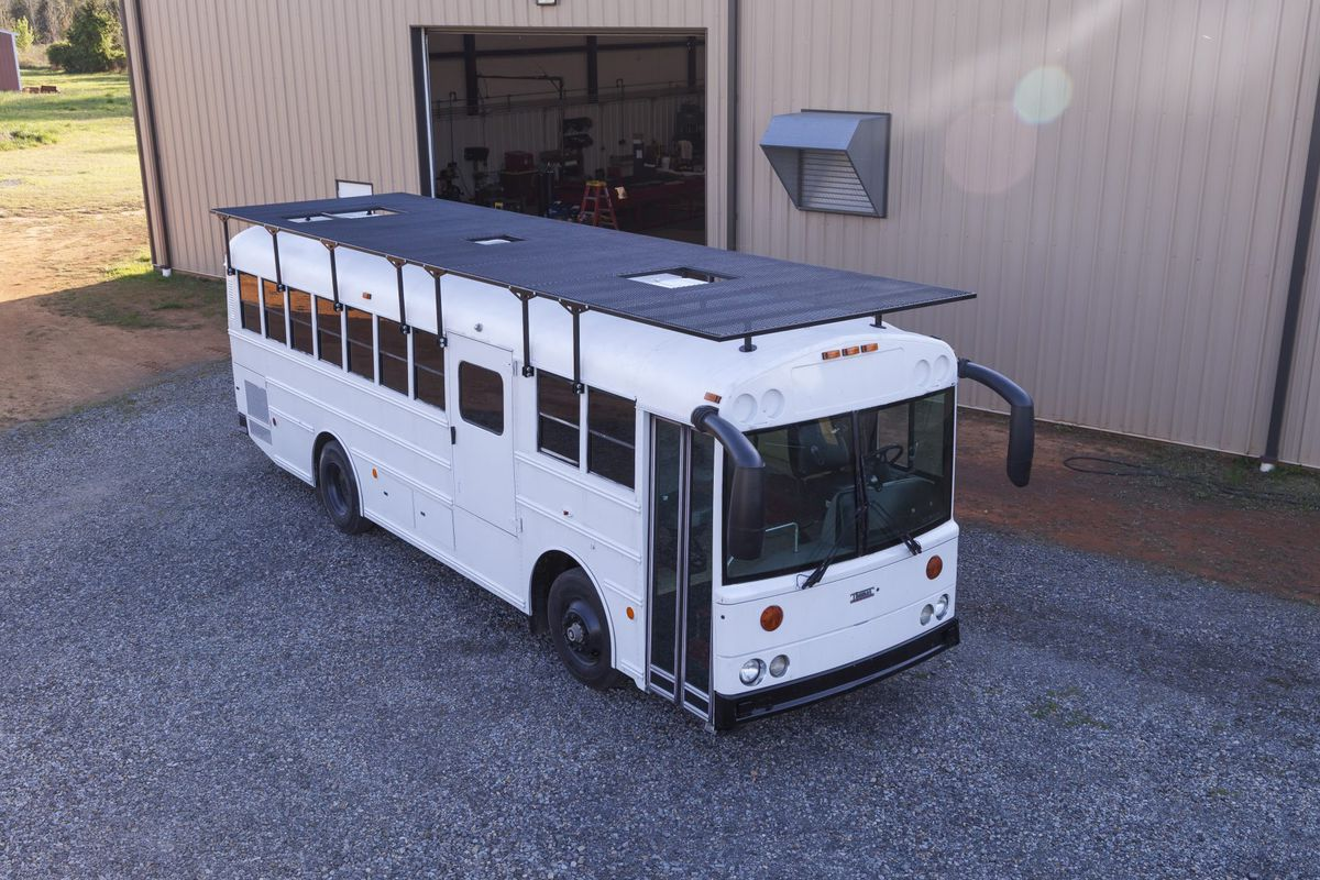 Solar-powered bus home makes a modern mobile home ... on home mobile home, electric mobile home, siding mobile home, residential mobile home, de markies mobile home, antique vintage mobile home, universal mobile home, heat pumps mobile home, water mobile home, gutters mobile home, windows mobile home, hybrid mobile home, double roof on mobile home, real estate mobile home, steel mobile home, earth mobile home, flooring mobile home, green mobile home, insulation mobile home, natural gas mobile home,