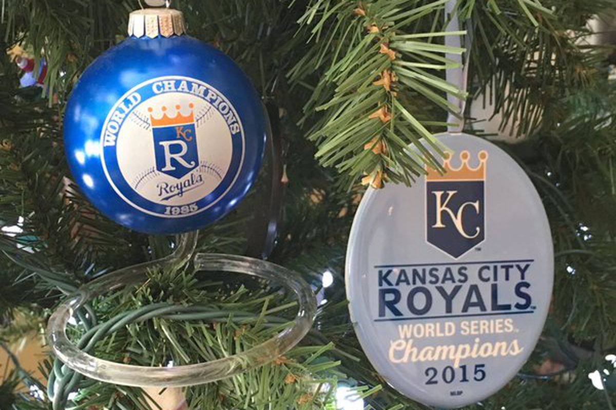 royals players fans celebrate a merry christmas - Royals Christmas Ornament