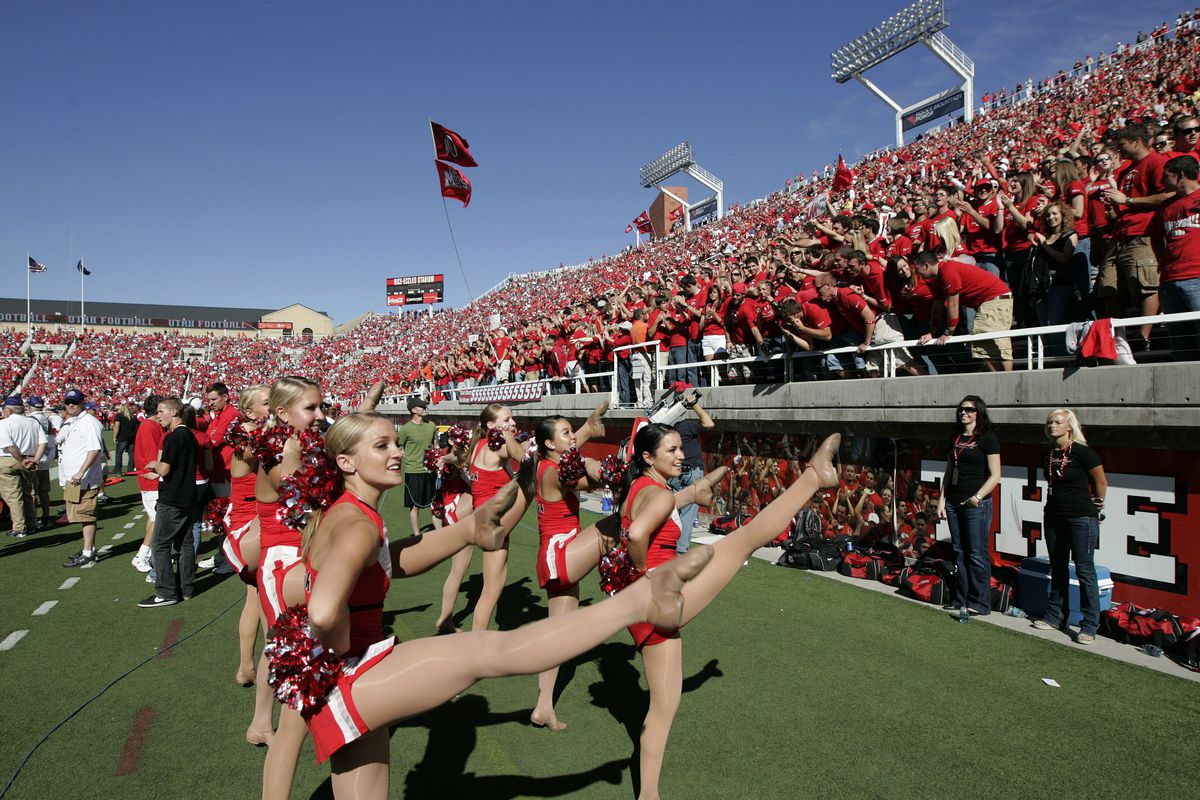FOR DIRK FACER CROWD STORY High attendance as the University of Utah defeats Colorado State University 49-16 in Mountain West Conference NCAA football in Salt Lake City, Utah, Oct. 18, 2008. Photo by Tom Smart