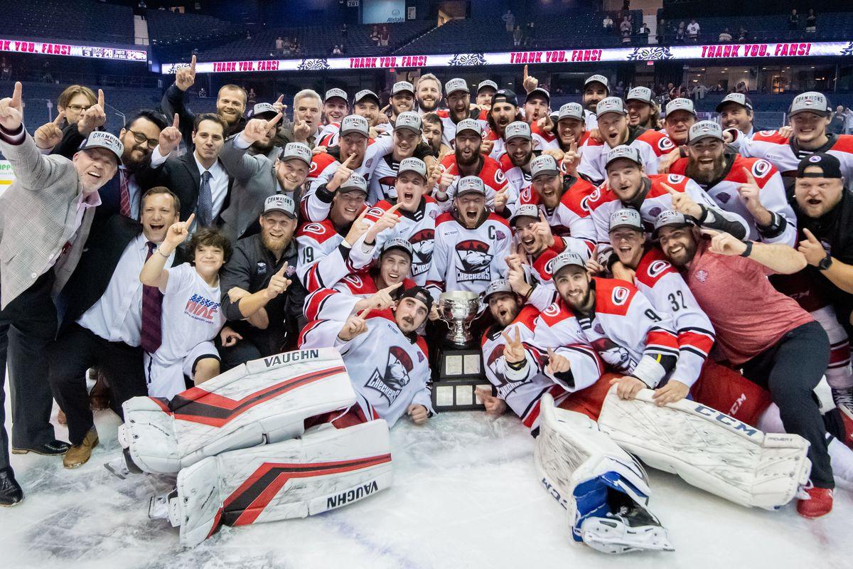 AHL: JUN 08 Calder Cup Final - Charlotte Checkers at Chicago Wolves