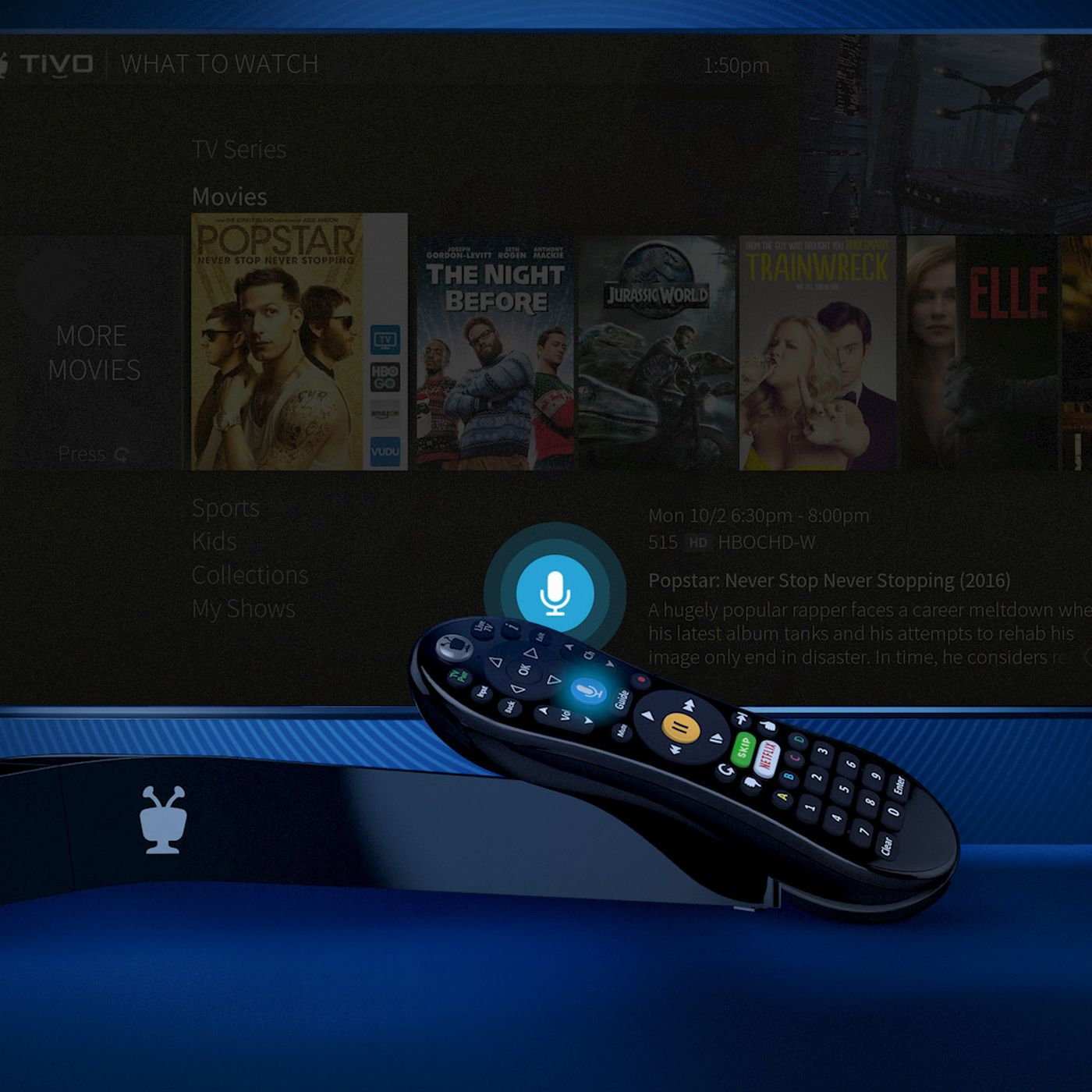 Tivos New Bolt Vox Dvr Has Voice Search Built Into The Remote Directv Genie Wiring Diagram For 10 Base T Verge