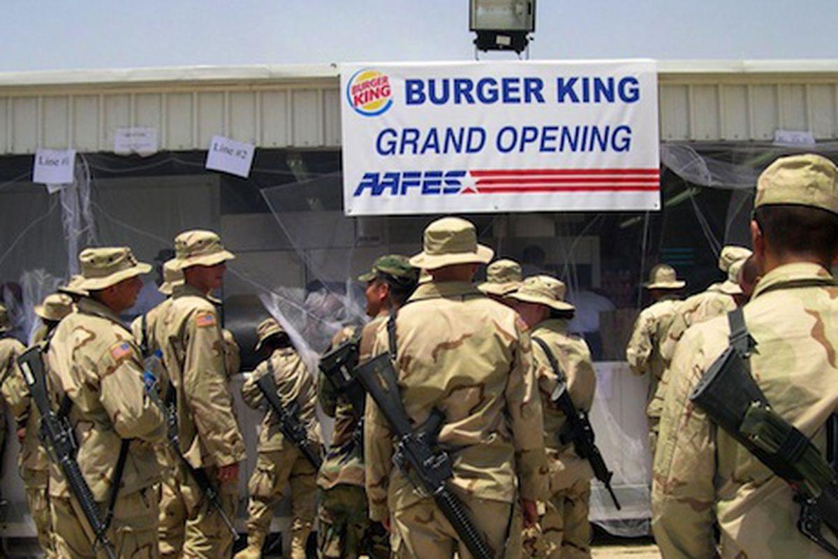 The Burger King at the Baghdad International Airport.