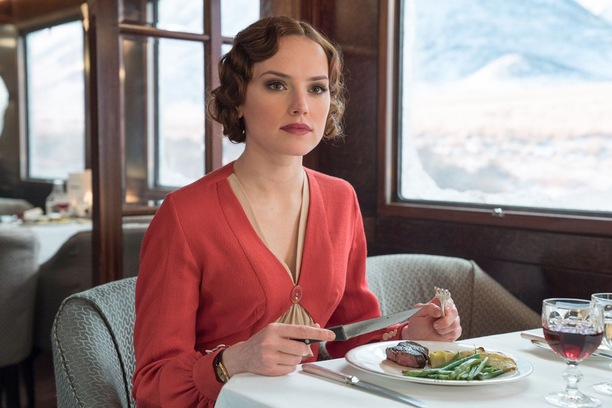 Daisy Ridley as Mary Debenham in Murder on the Orient Express.