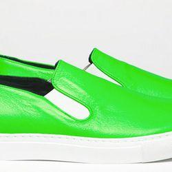 The Slip-On in fluorescent green.