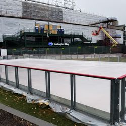 Ice rink now complete and ready to open Friday