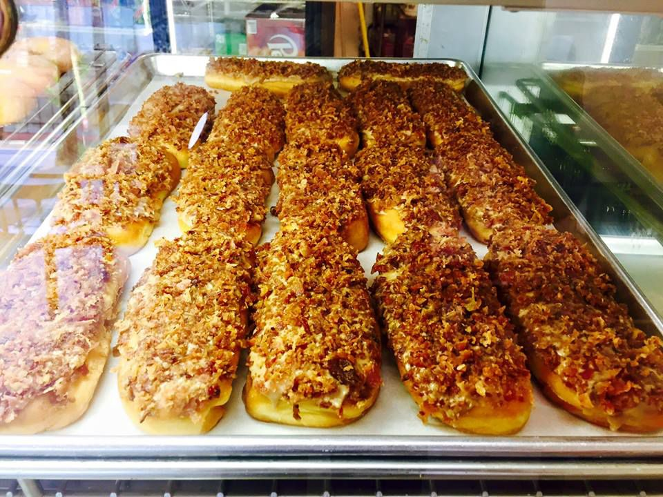 Maple bacon bars at Family Donut in Northgate