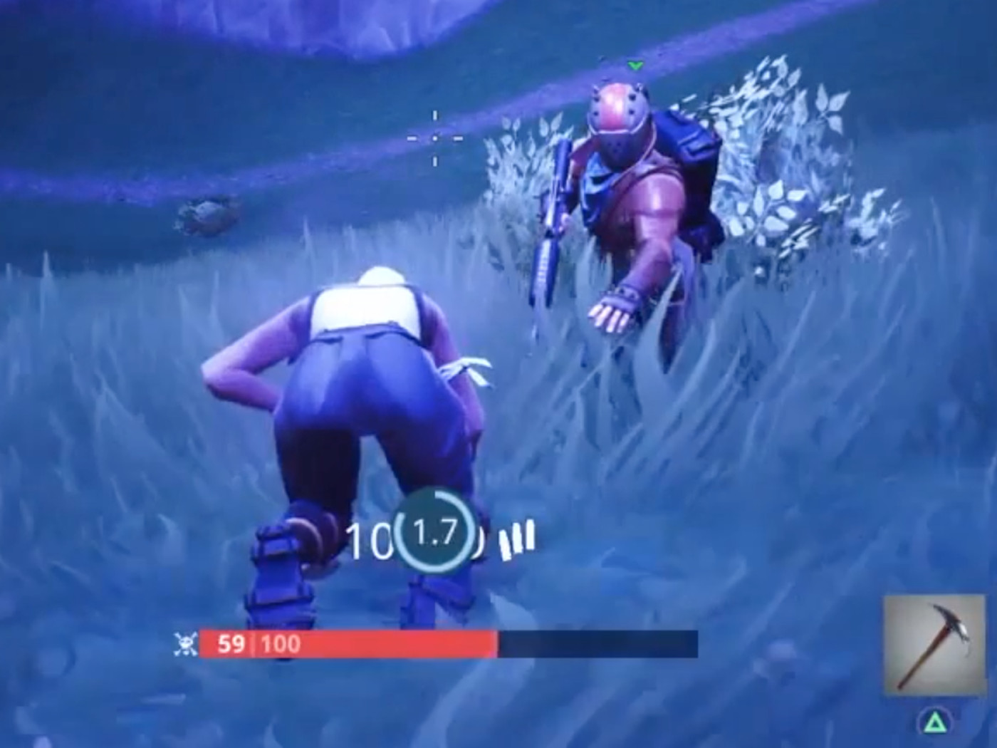 fortnite hero revives a stranger four times while running through the storm polygon - how to crawl in fortnite ps4