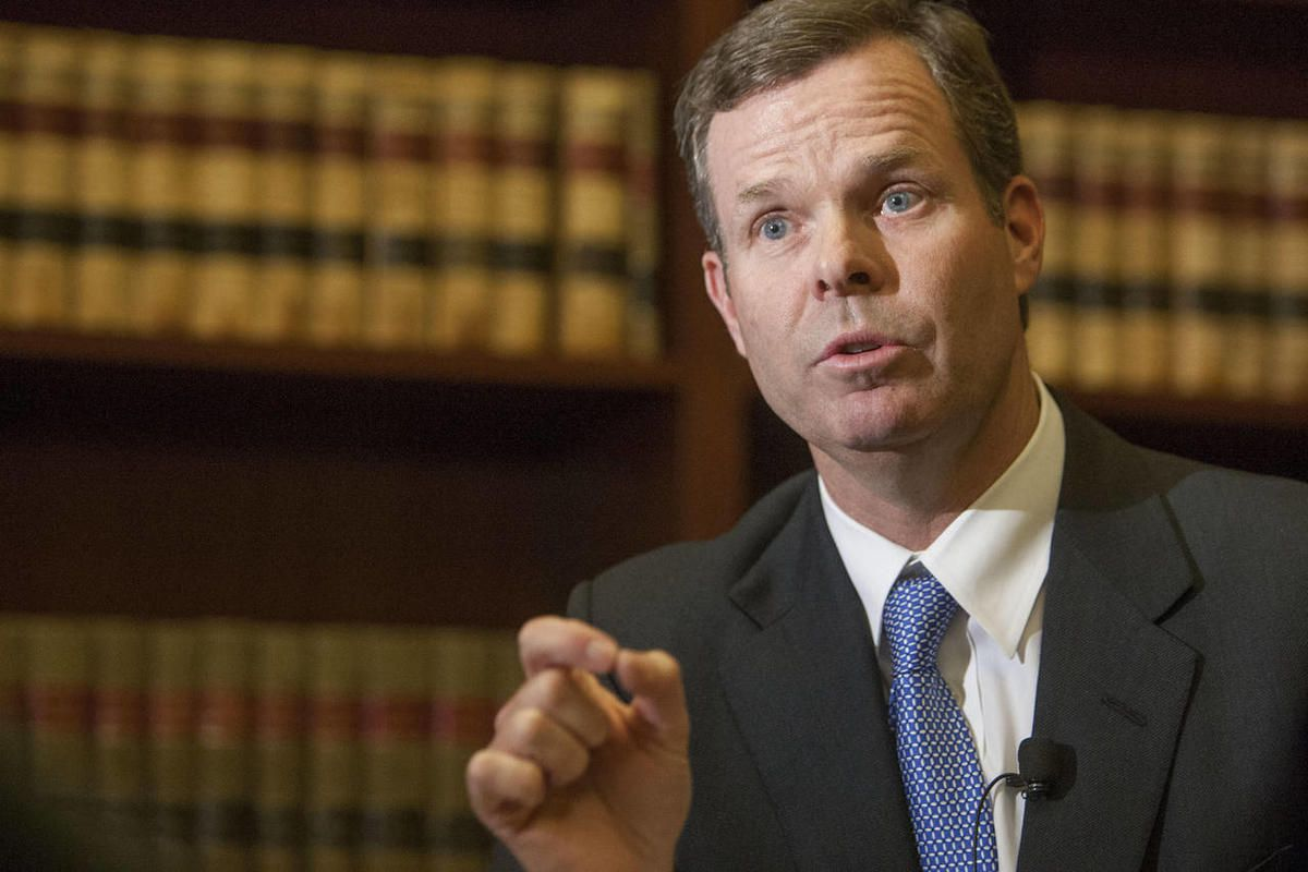 Utah Attorney General John Swallow speaks out Monday, Jan. 14, 2013, in his office at the state Capitol about allegations that he was involved in improper deals.
