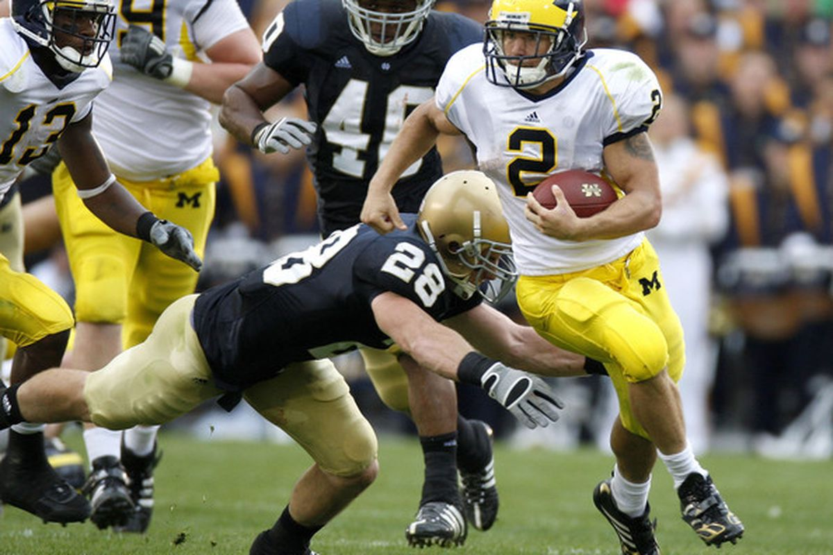 """Sam McGuffie, the """"one man stimulus package,"""" is Rice's newest offensive weapon.  via <a href=""""http://www4.pictures.gi.zimbio.com/Michigan+v+Notre+Dame+hhSgq_KroY3l.jpg"""">www4.pictures.gi.zimbio.com</a>"""