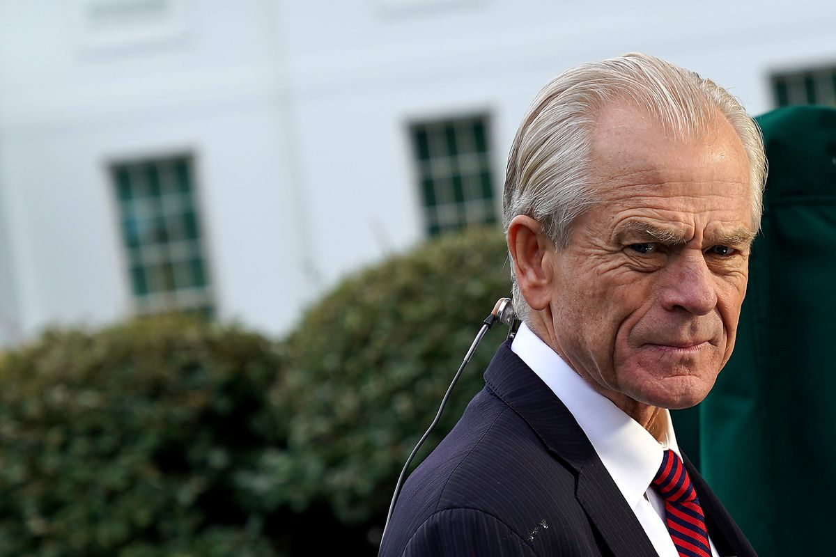 Navarro in front of the White House