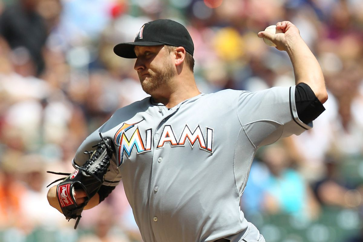 Mark Buehrle has been a consistent bright spot in the Miami Marlins' rotation this season. (Photo by Mike McGinnis/Getty Images)