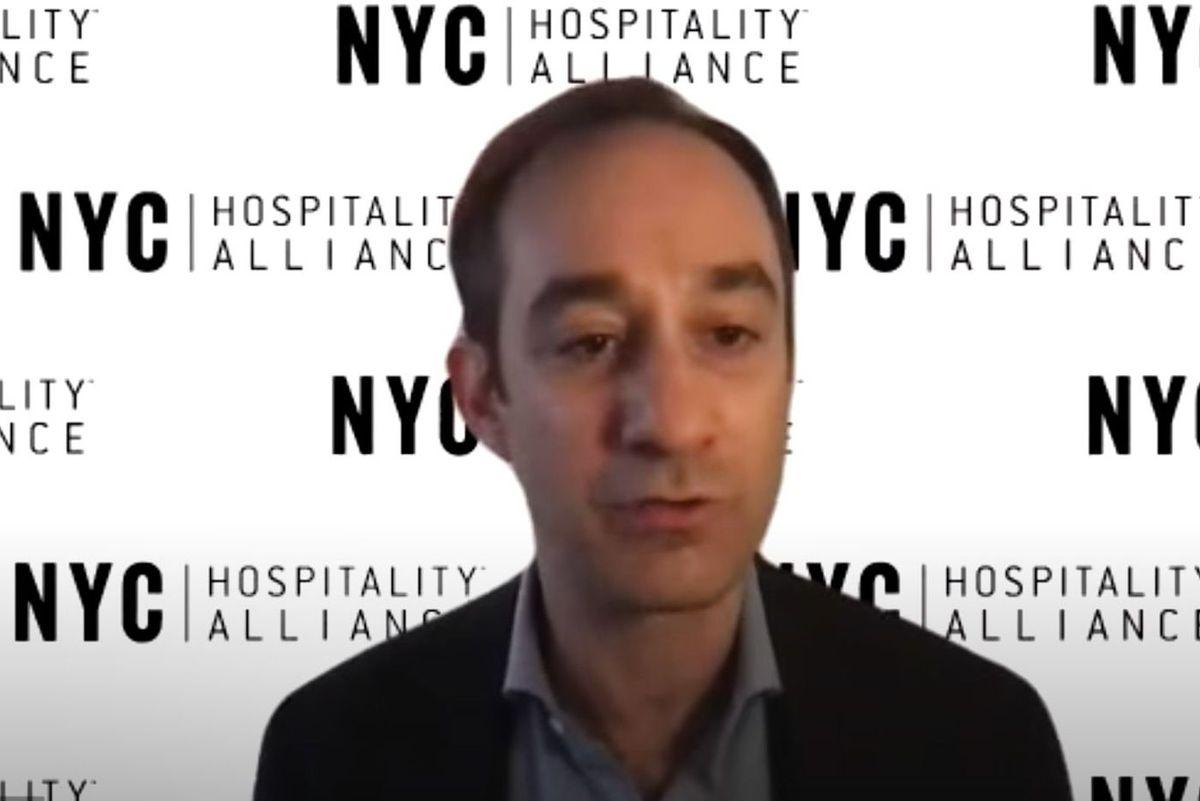 New York Hospitality Alliance leader Andrew Rigie.