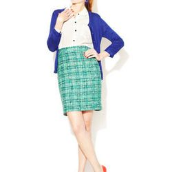 Judy Wool Cotton Tweed Skirt. Original price $348, Gilt price $159