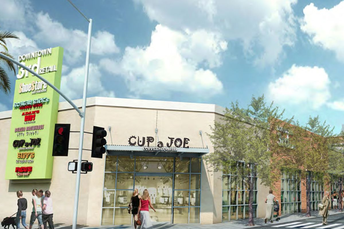 Downtown3rd Retail early rendering