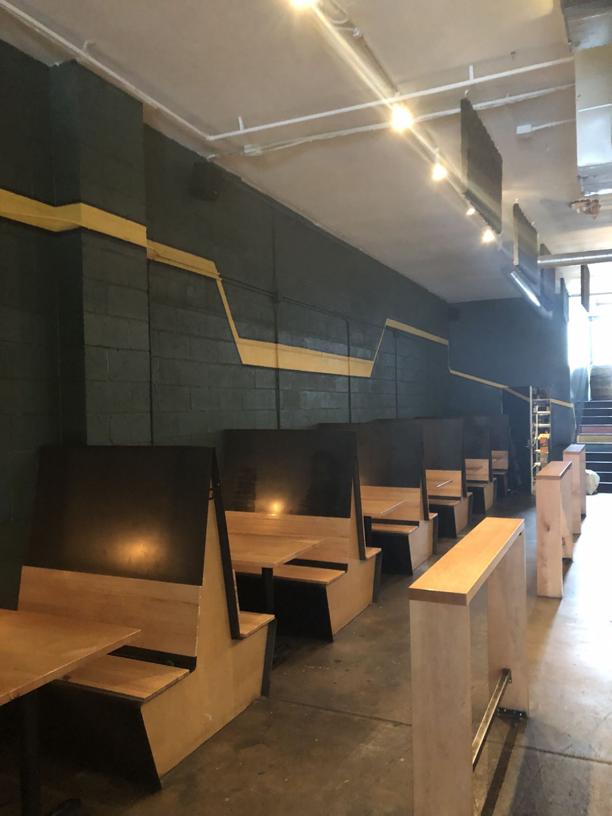 Interior seating at Gold Point