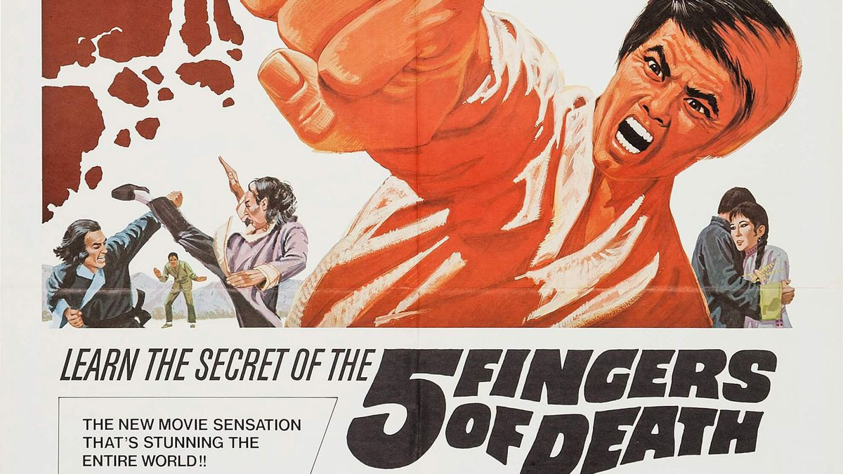 Five Fingers of Death poster with a man punching at a brick wall