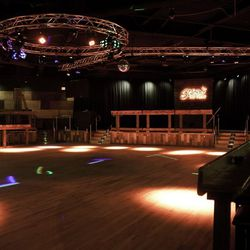 The 2,500-square-foot dance floor at Stoney's Rockin' Country.