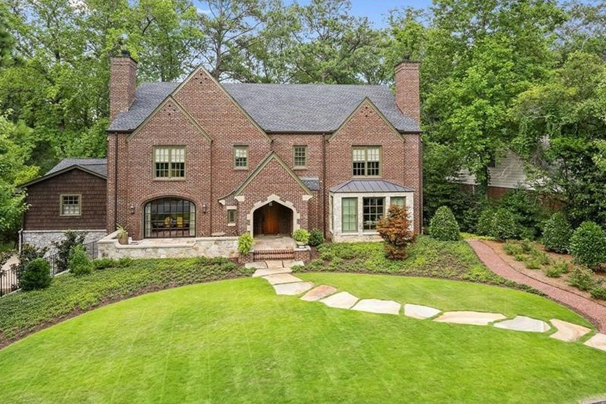 A massive Tudor home for sale in Morningside, Atlanta.