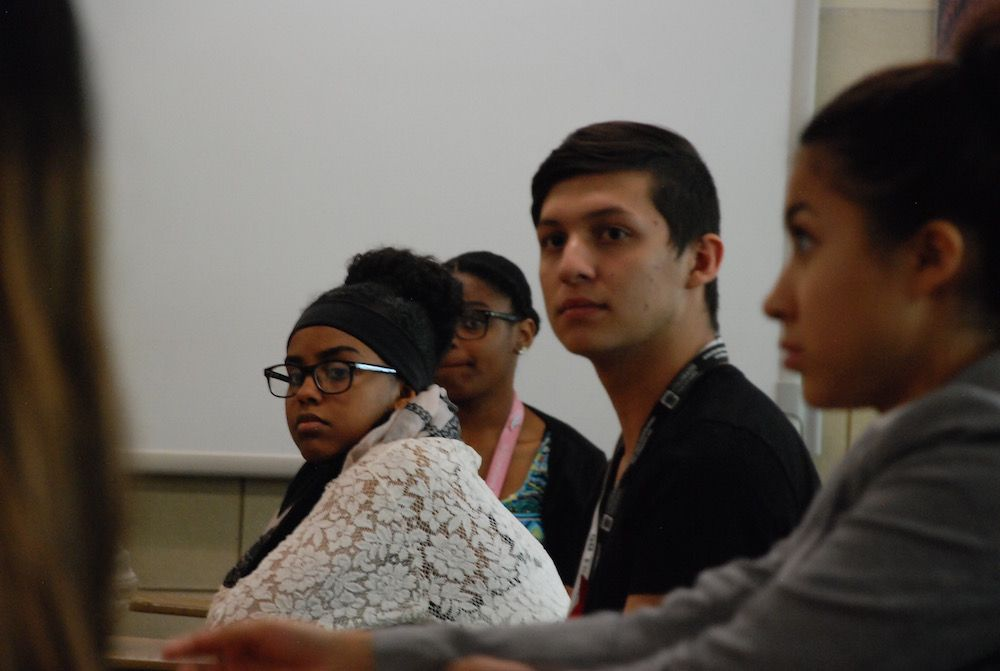 Aurora Central High students discuss the school's future in a leadership class. The high school is one of the state's lowest-performing schools.