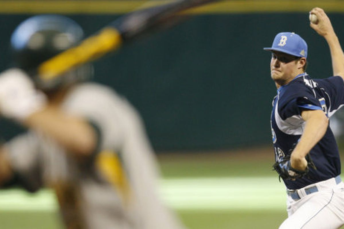 """Few batters will want to look down the barrel at sophomore Gerrit Cole (Photo Credit: <a href=""""http://uclabruins.com"""" target=""""new"""">Official Site</a>)"""