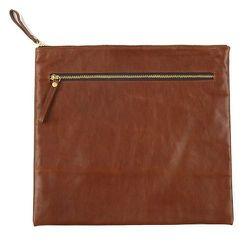 """<strong>Ernest Alexander</strong> Banker Leather Zip Portfolio in Brown, <a href=""""http://www.ernestalexander.com/pages/visit-us/#soho"""">$230</a>"""