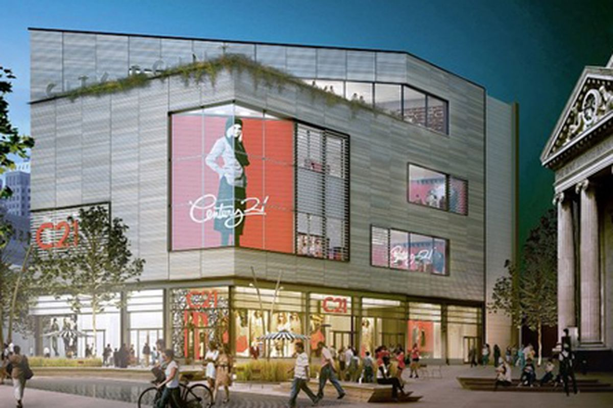 """Century 21 rendering by Cook + Fox Architects via <a href=""""http://online.wsj.com/article/SB10001424052702304203604577394493680072160.html?mod=rss_newyork_main"""">WSJ</a>"""