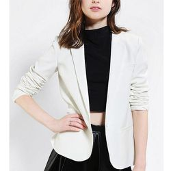"""<b>Silence + Noise</b> Ex-Boyfriend Blazer in White, <a href=""""http://www.urbanoutfitters.com/urban/catalog/productdetail.jsp?id=26243931&parentid=SEARCH+RESULTS"""">$79</a> at Urban Outfitters"""