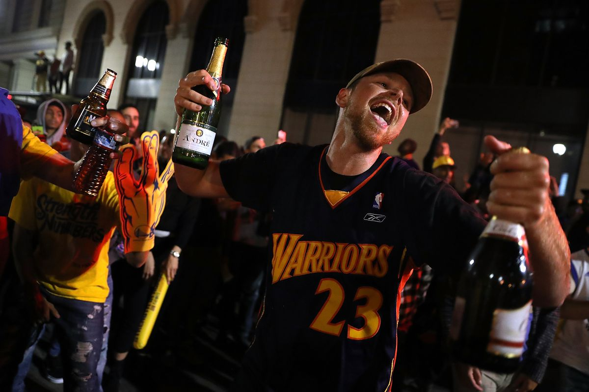 Poised To Win NBA Finals, Warriors Fans Cheer On Their Team