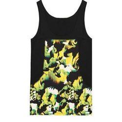 "<a href=""http://www.icbnyc.com/shop/chartreuse--brush-stroke-print-jersey-tank"">Brush stroke print jersey tank</a>, $33 (was $165)"