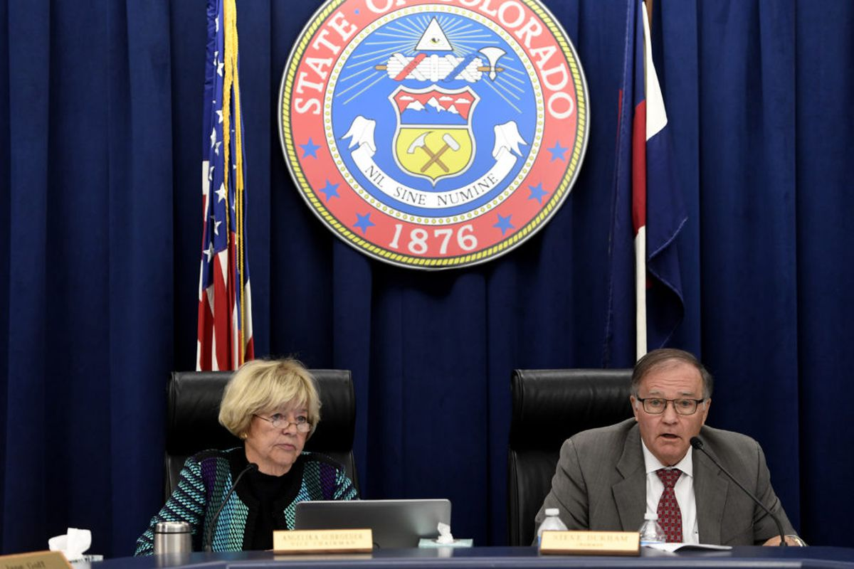 State Board of Education Chair Angelika Schroeder and Vice Chair Steve Durham at a past meeting.