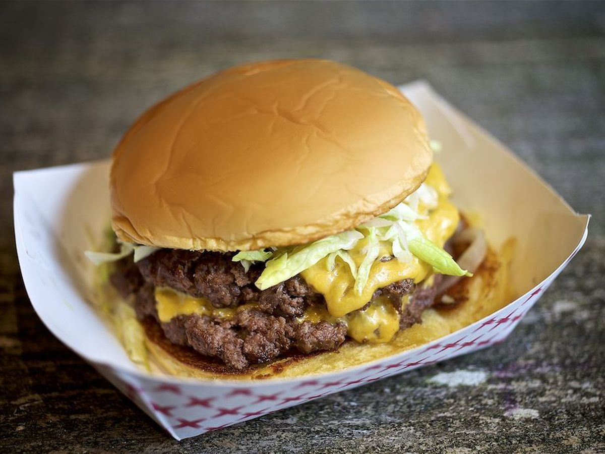 Double burger at BYH Burgers