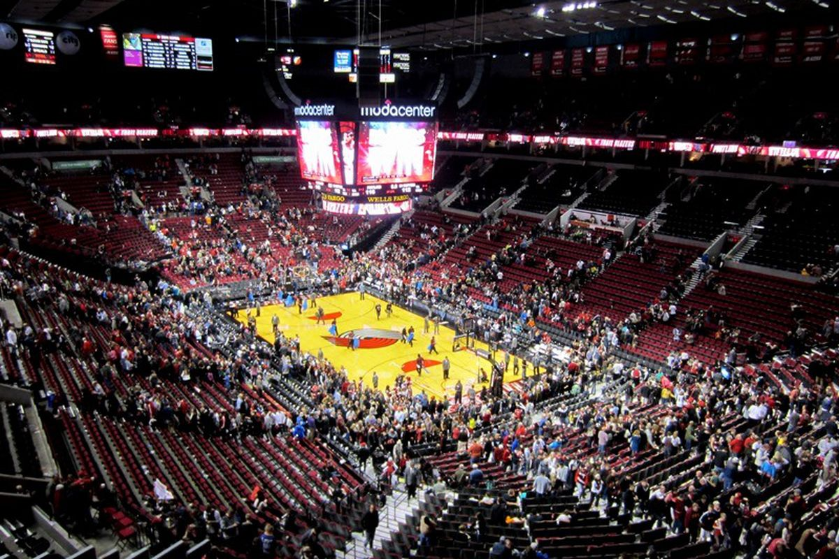 Oregon St. will be playing in the Moda Center in Portland next December.