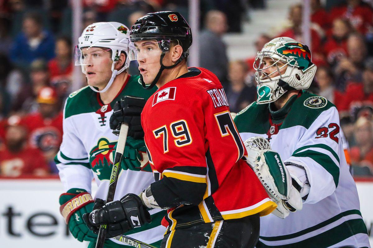 NHL: Minnesota Wild at Calgary Flames