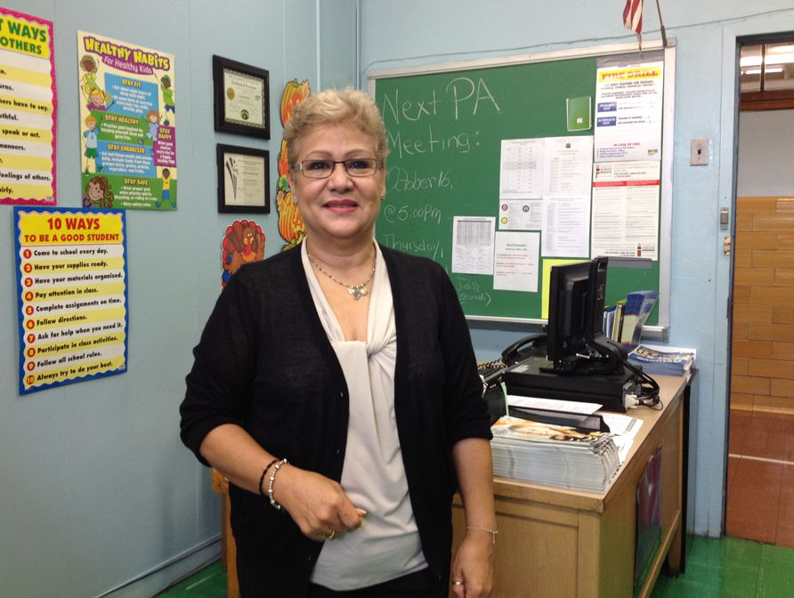 Parent coordinator Nilda Delgado has watched the school struggle and improveover the last 15 years.