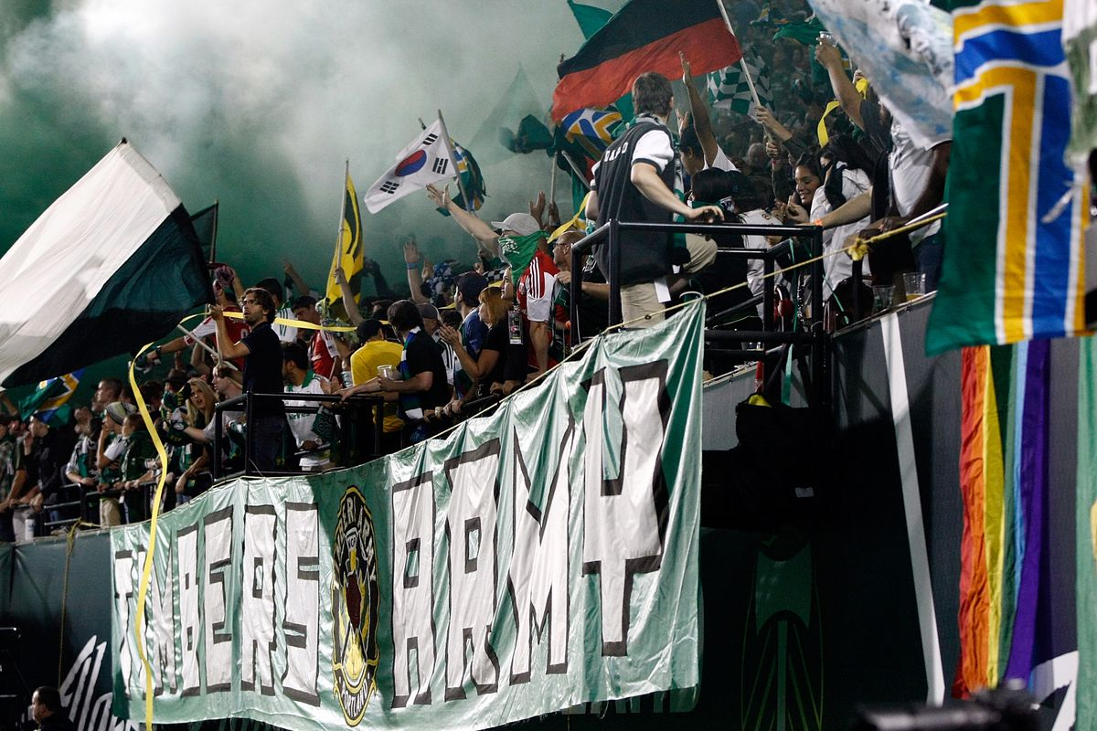 We don't have a picture of JAV in our archives, so here's the Timbers Army.