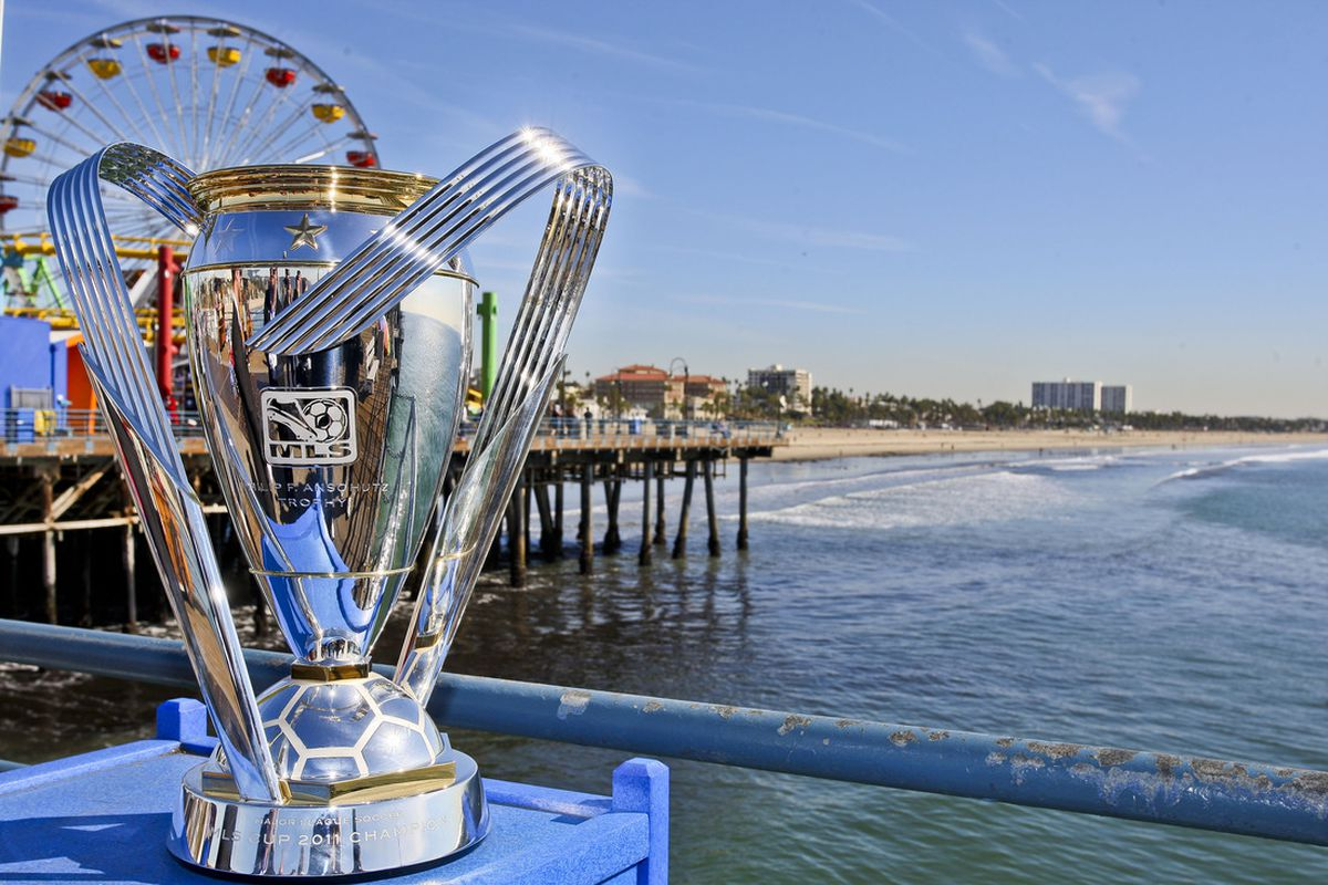 MLS Cup at Santa Monica Pier. I really love this photo. If I ever redesign the LAG Confidential logo, it'll be to look like this photo.