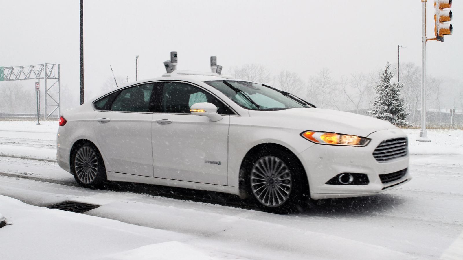 Ford is testing self-driving cars in the snow, which is a really ...