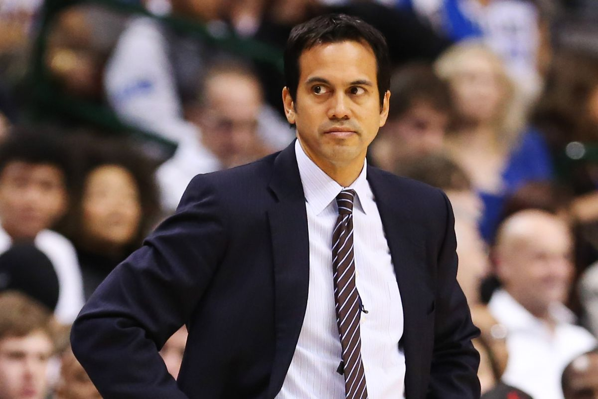 Heat coach Erik Spoelstra routinely tinkers with his starting lineup