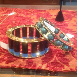 Lele Sadoughi bracelets, $125 (top) and $148 (bottom)