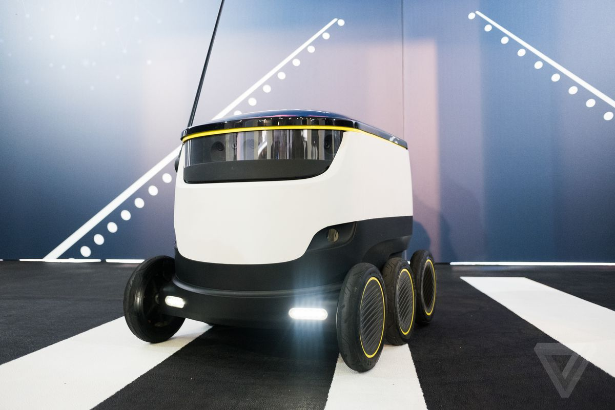 Starship autonomous delivery robot hands-on photos