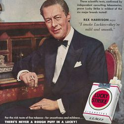 Lucky Strike's red and white packaging
