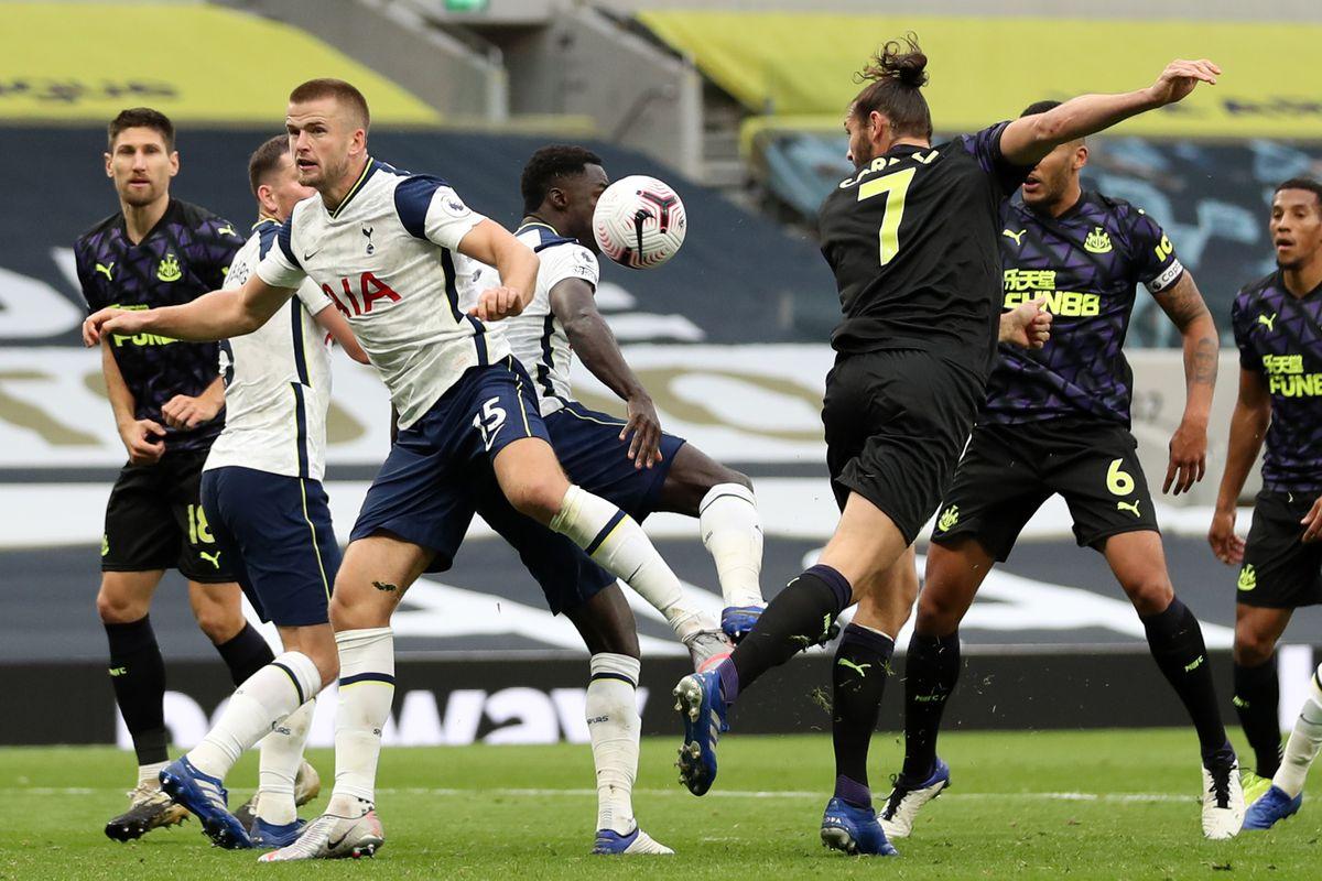The ball hits the arm of Eric Dier - Tottenham Hotspur v Newcastle United - Premier League