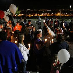 Ronnie Lee Gardner's family and friends keep watch near the Utah State Prison in Draper on Thursday. The execution warrant for Ronnie Lee Gardner was carried out at 12:17 a.m. on Friday.