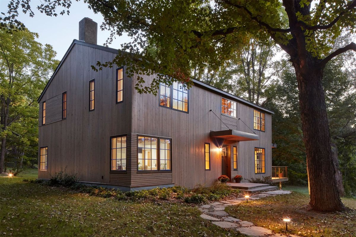 Modern farmhouse on over 38 acres outside nyc wants 1 3m for The modest farmhouse