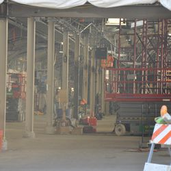 View through Gate K at the third-base line concourse -