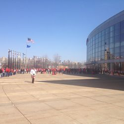 Hundreds of fans lined the Kohl Center entrances more than an hour before the event was slated to begin.