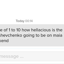 The opener that every female fan hopes for on Tinder...