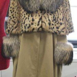 Adrienne Landau capelet, $650<br />Adrienne Landau coat, $1,195<br />
